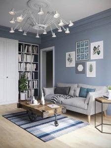 Warna yang serasi dengan karpet dan lukisan dapat menghasilkan interior yang indah dan harmonis.