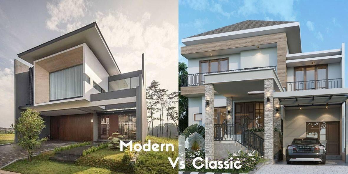 Perbedaan antara rumah klasik dengan rumah modern